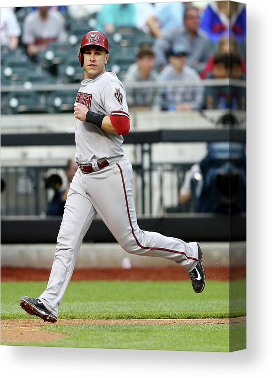 Second Inning Canvas Print featuring the photograph Miguel Montero by Elsa