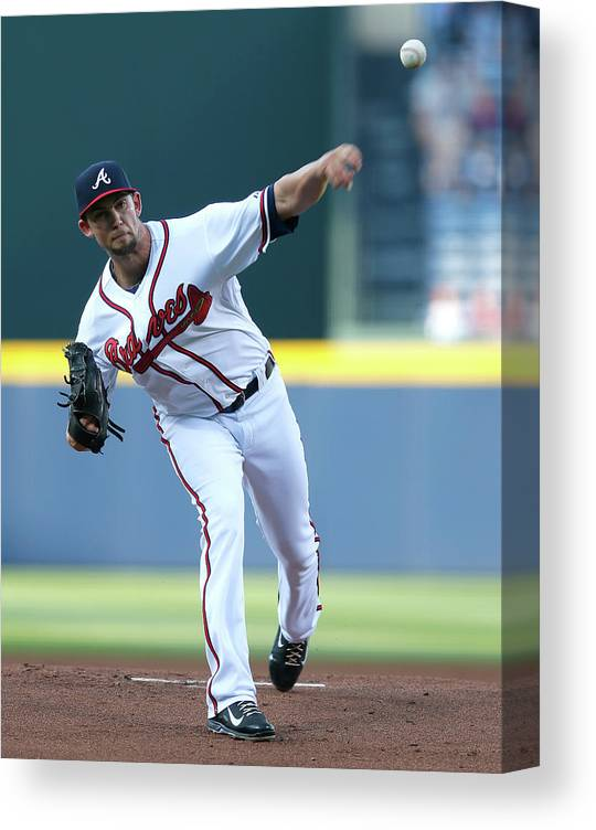 Atlanta Canvas Print featuring the photograph Mike Minor by Kevin C. Cox