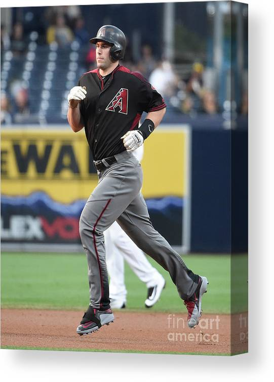 People Canvas Print featuring the photograph Paul Goldschmidt by Denis Poroy