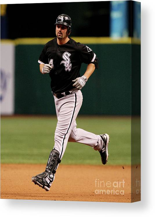 Playoffs Canvas Print featuring the photograph Paul Konerko by Doug Benc
