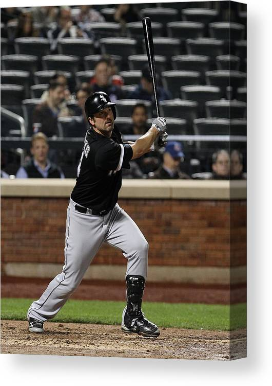 American League Baseball Canvas Print featuring the photograph Paul Konerko by Mike Stobe