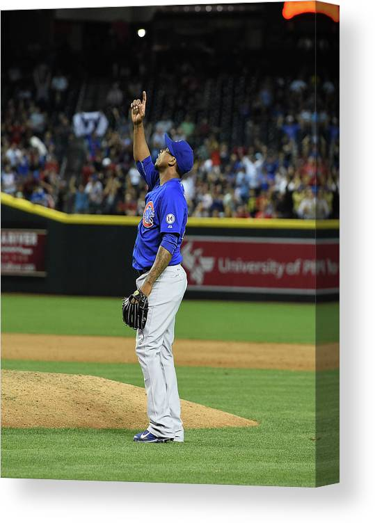American League Baseball Canvas Print featuring the photograph Pedro Strop by Norm Hall