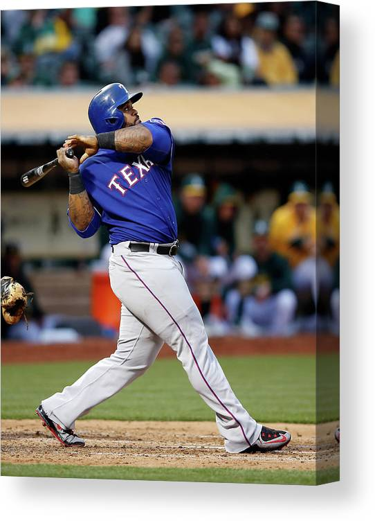 People Canvas Print featuring the photograph Prince Fielder by Ezra Shaw