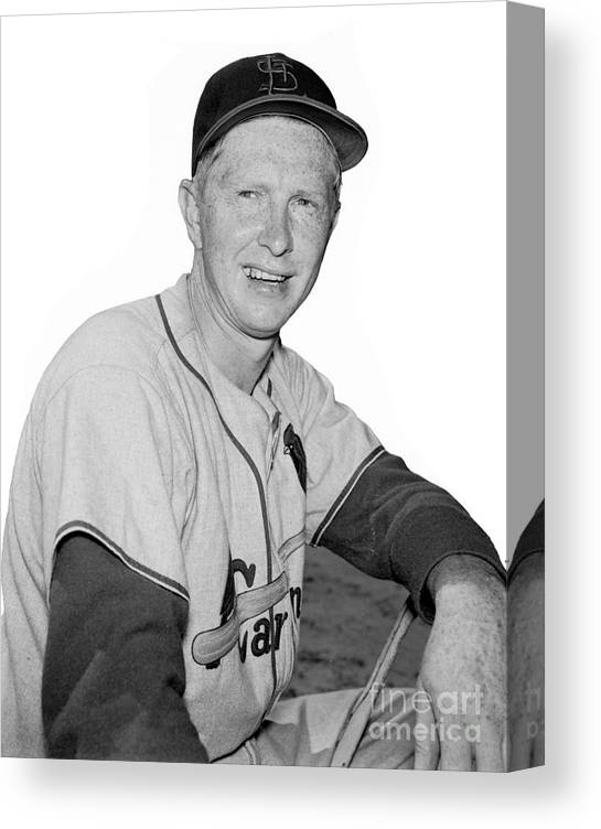 St. Louis Cardinals Canvas Print featuring the photograph Red Schoendienst by Kidwiler Collection