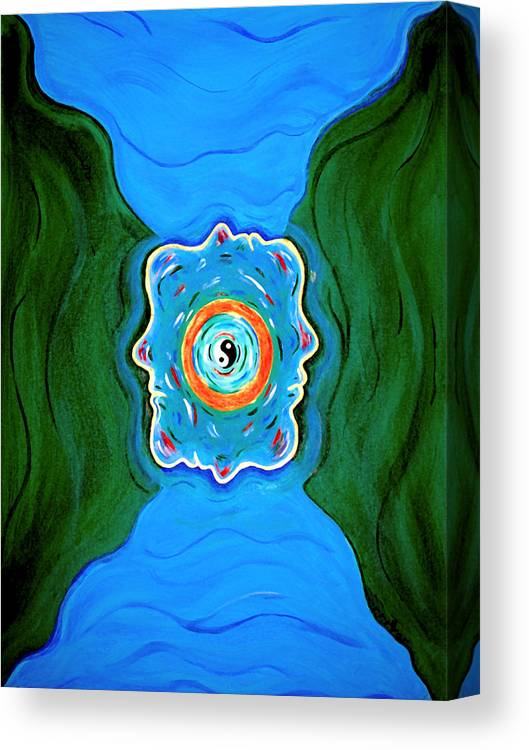 Taoist Canvas Print featuring the painting River Of Dreams by Donna Proctor