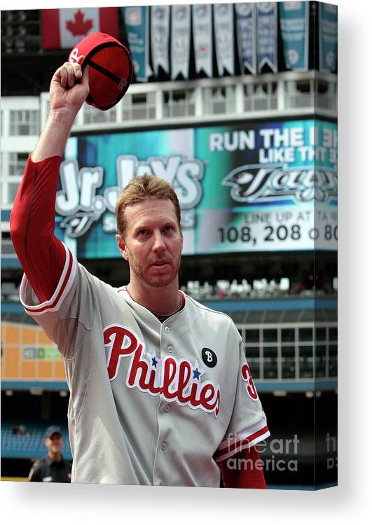 People Canvas Print featuring the photograph Roy Halladay by Abelimages