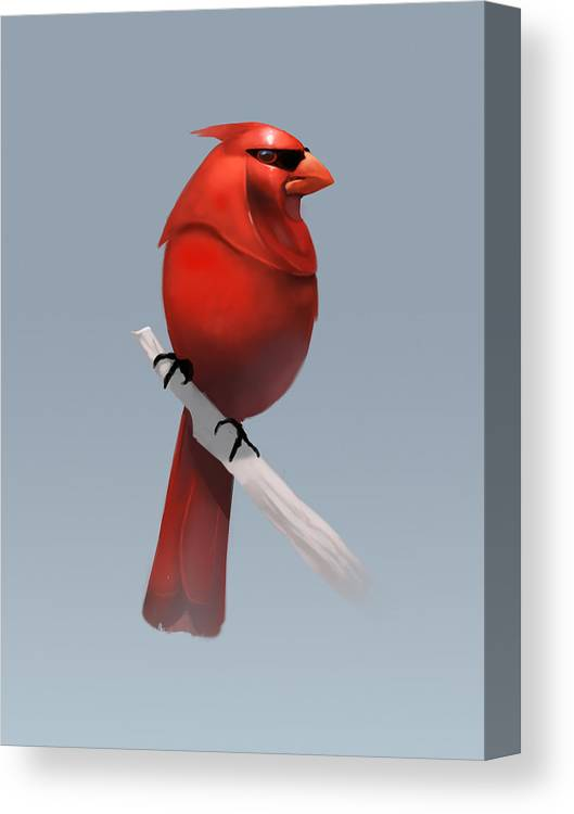 Birds Canvas Print featuring the digital art Royal Guardinal by Michael Myers