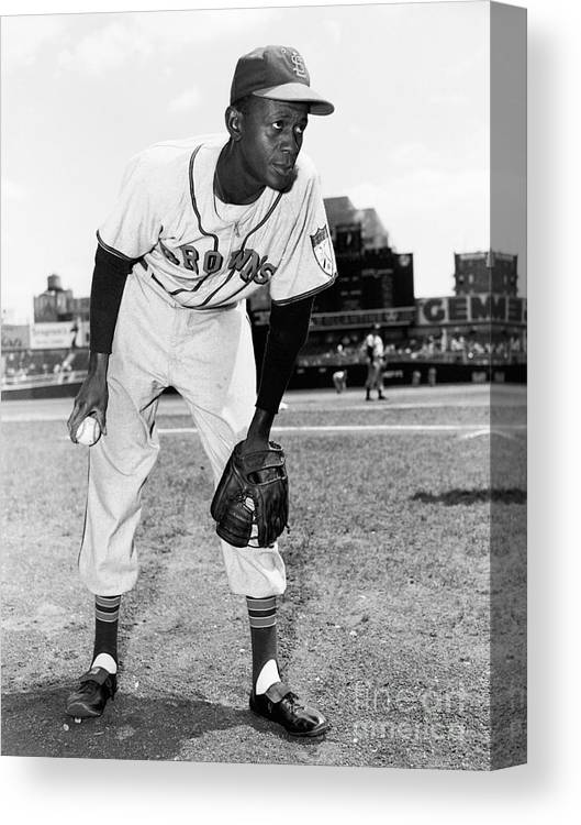 American League Baseball Canvas Print featuring the photograph Satchel Paige by Kidwiler Collection