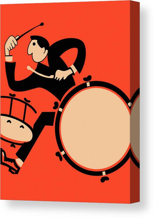 Drum Canvas Print featuring the photograph The Drummer by Mark Rogan