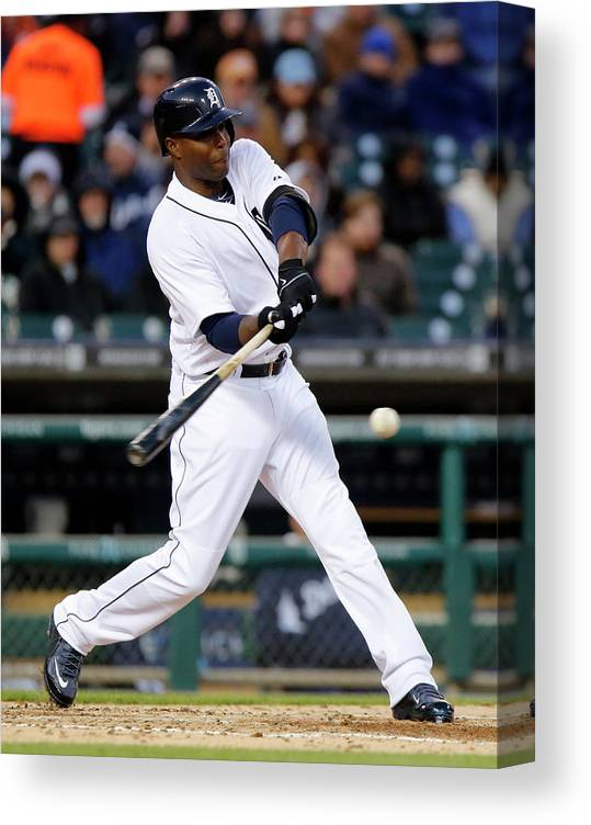 American League Baseball Canvas Print featuring the photograph Torii Hunter by Duane Burleson