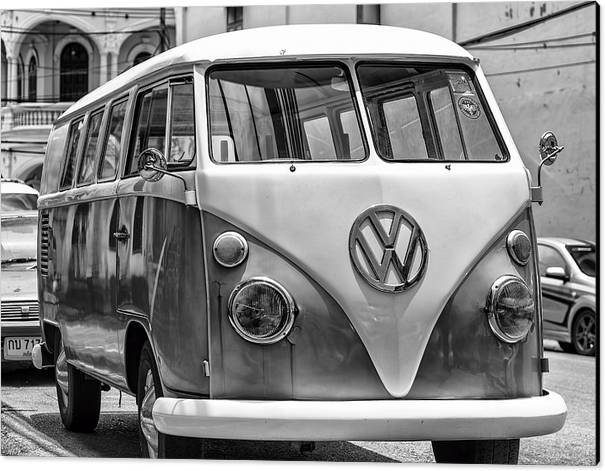 VW Van in Black and White by Georgia Fowler