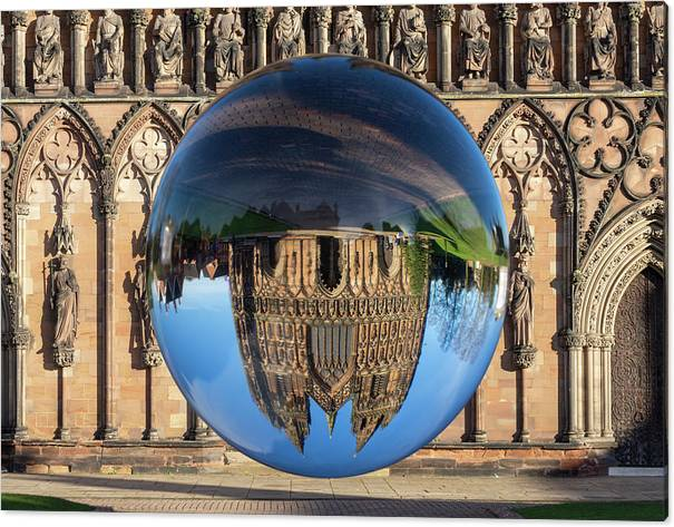 Lichfield Canvas Print featuring the photograph Lens ball Lichfield by Steev Stamford