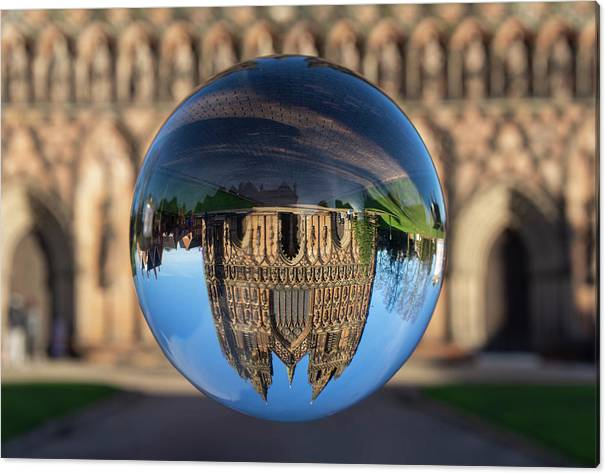 Lichfield Canvas Print featuring the photograph Lichfield lens ball by Steev Stamford