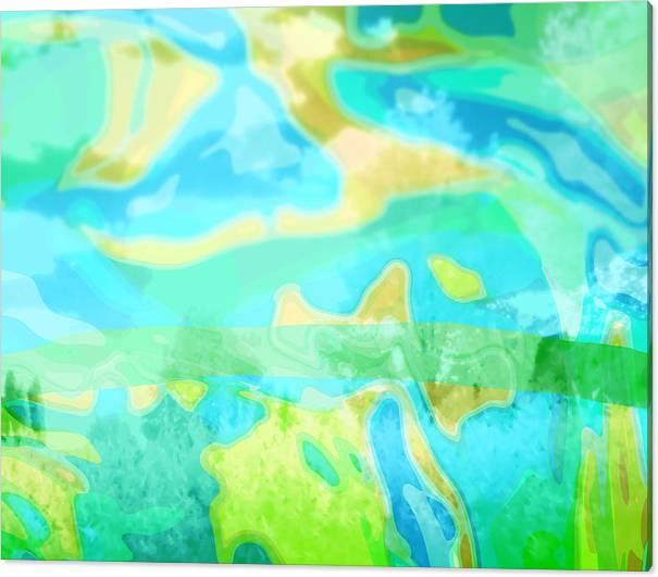 Air Canvas Print featuring the mixed media Air 1 by M Urbanski