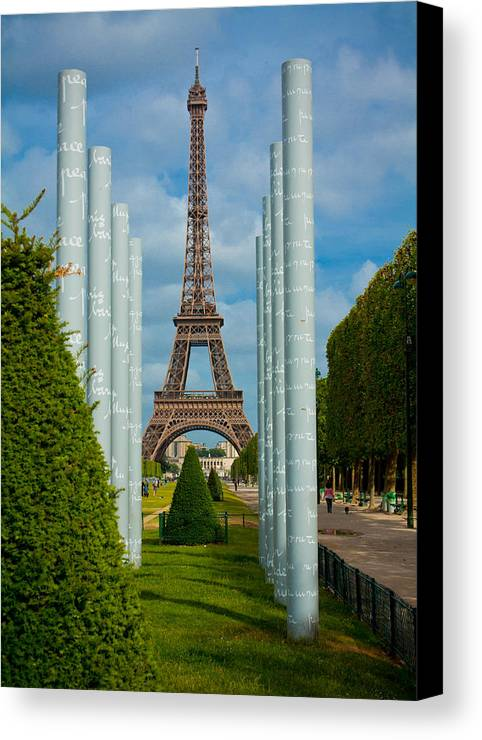 Eiffel Tower Canvas Print featuring the photograph Eiffel Tower by Anthony Doudt