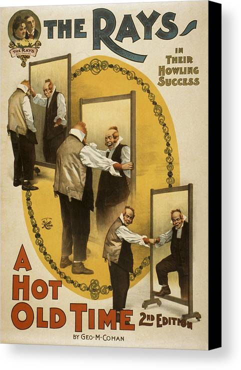 Entertainment Canvas Print featuring the drawing A Hot Old Time by Aged Pixel