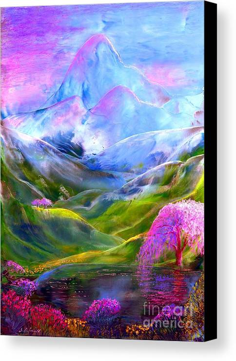 Mountain Canvas Print featuring the painting Blue Mountain Pool by Jane Small