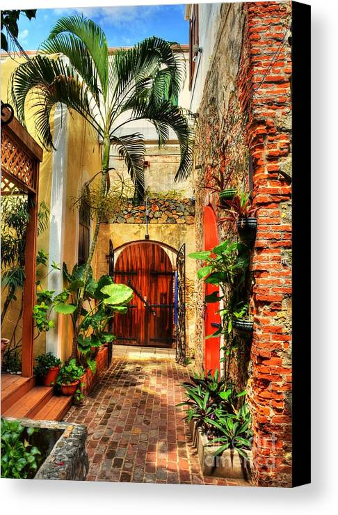 Colors Of Saint Thomas Canvas Print featuring the photograph Colors Of Saint Thomas 1 by Mel Steinhauer