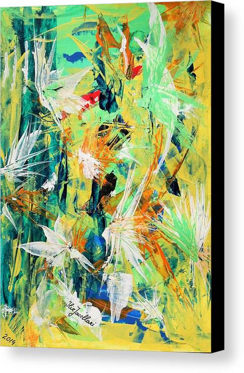 Astrat Canvas Print featuring the painting Colours Experiments by Ilir Jacellari