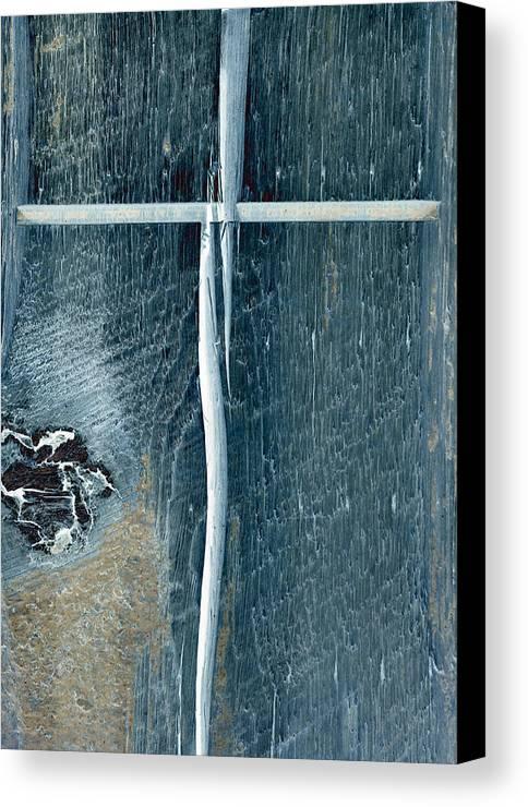 Cross2bear;inspirational Canvas Print featuring the photograph Cross2bear by Tom Druin
