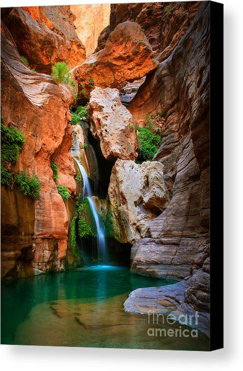 America Canvas Print featuring the photograph Elves Chasm by Inge Johnsson