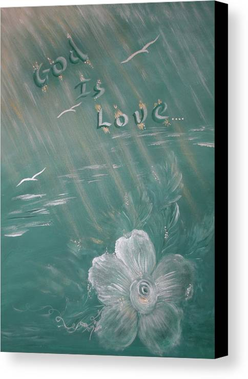 Christian Art Canvas Print featuring the painting God Is Love by Mary Grabill