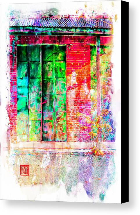 Chinese Camp Canvas Print featuring the digital art Iron Doors II by Ken Evans