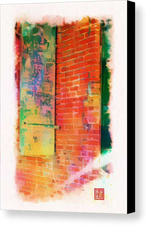 Chinese Camp Canvas Print featuring the digital art Iron Window Door by Ken Evans