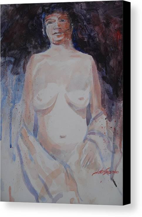 John Svenson Canvas Print featuring the painting Jane by John Svenson