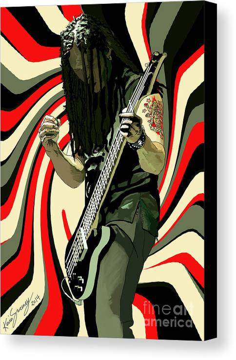 Bass Canvas Print featuring the digital art John Moyer by Kevin Sweeney