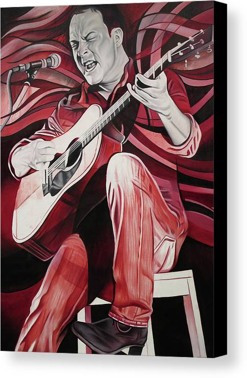Dave Matthews Canvas Print featuring the painting On Bended Knees by Joshua Morton