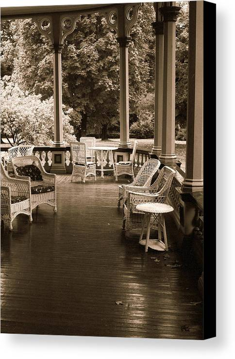 Fine Art Canvas Print featuring the photograph There Was A Time by Rodney Lee Williams