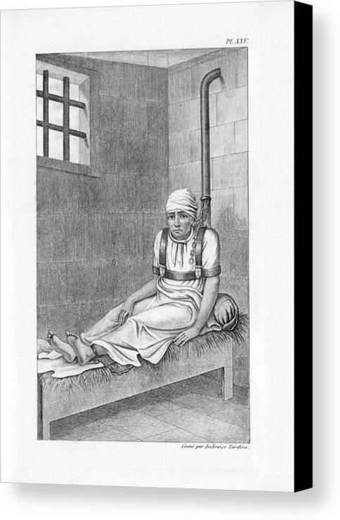 Human Canvas Print featuring the photograph Psychiatric Patient, 19th Century by King's College London
