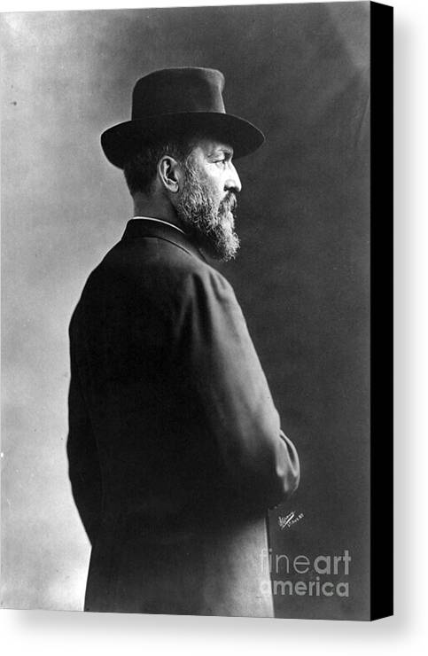Government Canvas Print featuring the photograph James A. Garfield, 20th American by Photo Researchers