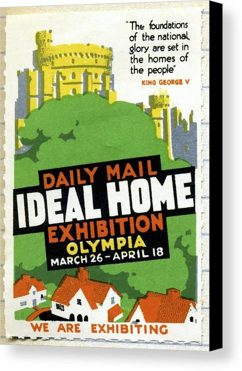 Ideal Home Exhibition Canvas Print featuring the photograph Ideal Home Exhibition Stamp, 1920 by Cci Archives