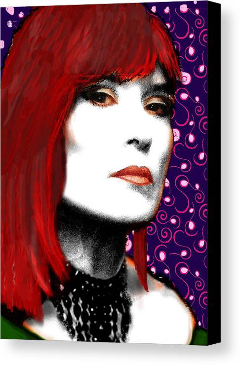 Portrait Canvas Print featuring the painting Judy Rose by Jann Paxton