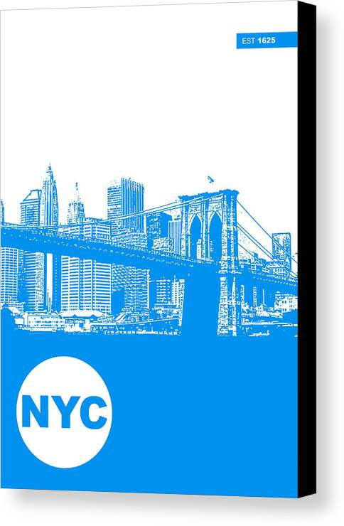 Canvas Print featuring the photograph New York Poster by Naxart Studio
