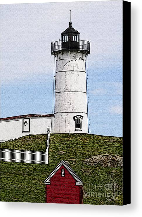 Cape Canvas Print featuring the photograph Nubble Lighthouse- Canvas by Luke Moore