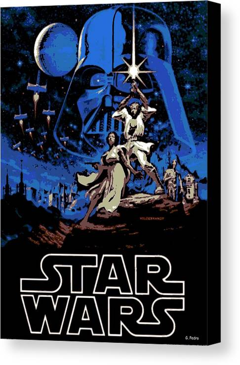 Star Wars Poster Canvas Print featuring the photograph Star Wars Poster by George Pedro