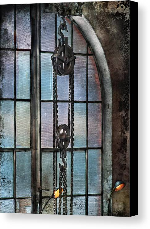 Hdr Canvas Print featuring the photograph Steampunk - Gear - Importance Of Industry by Mike Savad
