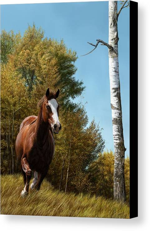 Horse Canvas Print featuring the digital art The Journey by Laura Klassen
