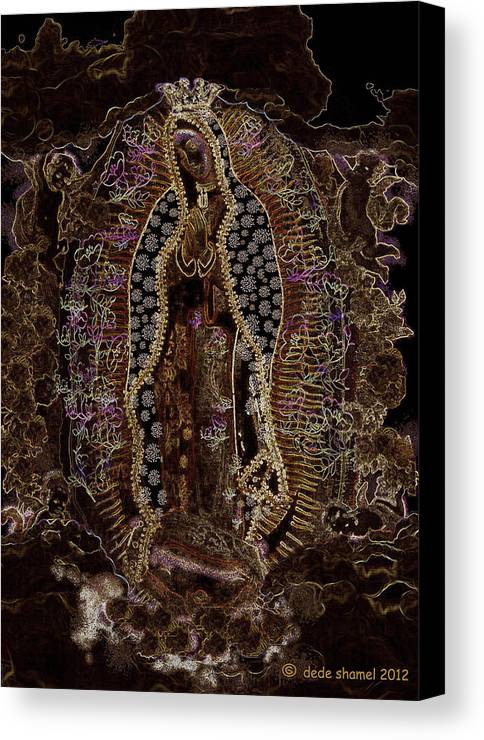 Virgin Of Guadalupe Canvas Print featuring the photograph Virgin Of Guadalupe 3 by Dede Shamel Davalos