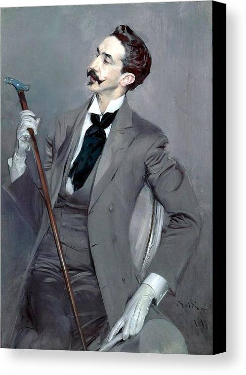 Giovanni Boldini Canvas Print featuring the painting Count Robert De Montesquiou by Giovanni Boldini