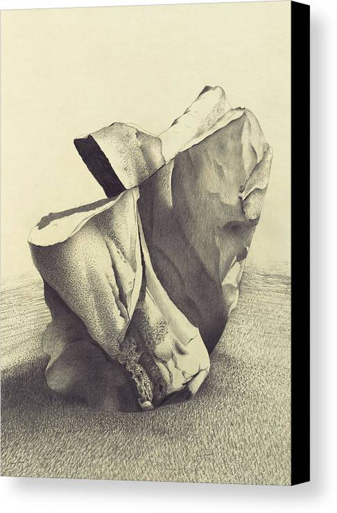 Avebury Canvas Print featuring the drawing Avebury Rock by Tony Paine