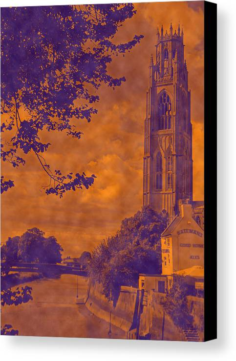 Boston Canvas Print featuring the photograph Boston Stump - Old Style by Dave Parrott