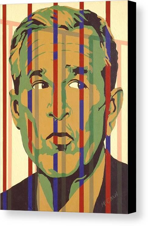 Neocon Canvas Print featuring the painting Bush by Dennis McCann