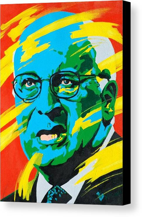 Painting Canvas Print featuring the painting Cheney by Dennis McCann
