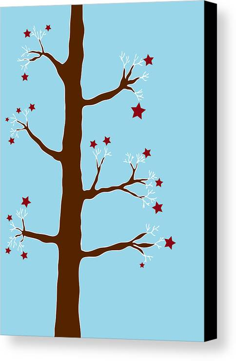 Christmas Canvas Print featuring the painting Christmas Tree by Frank Tschakert