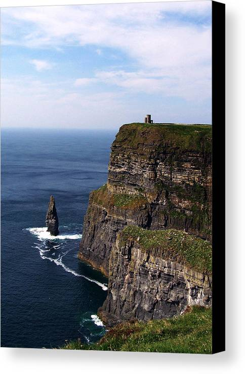 Irish Canvas Print featuring the photograph Cliffs Of Moher County Clare Ireland by Teresa Mucha