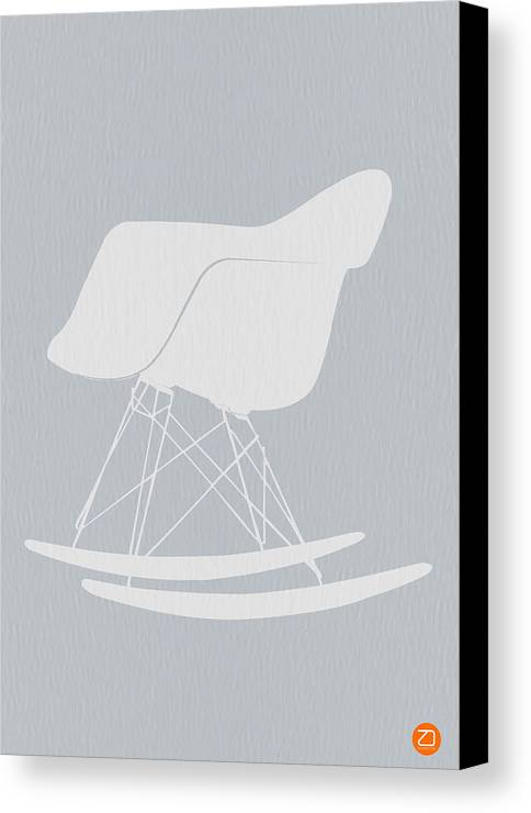 Eames Canvas Print featuring the photograph Eames Rocking Chair by Naxart Studio